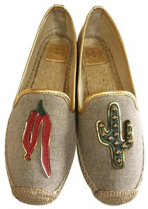 Tory Burch natural gold Flats