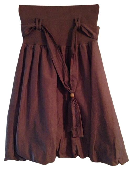 Item - Brown Puffy Cheeky Skirt Size Petite 8 (M)