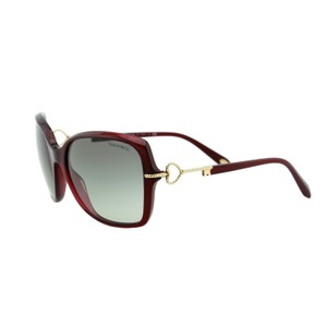 Tiffany & Co. New Tiffany Twist TF4101 Sunglasses Square Burgundy Red Key Detail