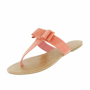 Red Circle Footwear Bow Daily Summer Coral Sandals