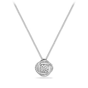 David Yurman David Yurman Sterling Silver and Diamond Infinity Necklace