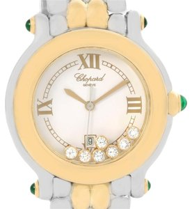 Chopard Chopard Happy Sport Floating Diamond Gold and Steel Watch 27/8276-22
