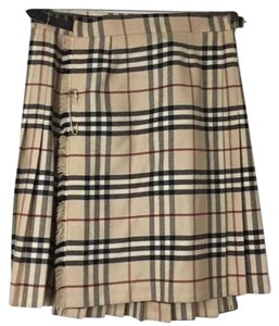 Burberry Mini Skirt Tan Black