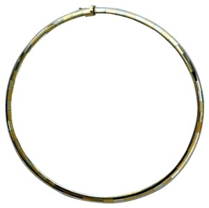 Omega 10K GOLD TWO COLOR DOMED OMEGA, 6MM / 15.75 INCHES, 24.99 GRAMS