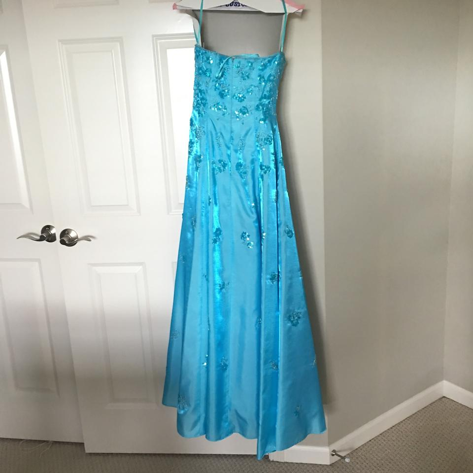 Cache Blue Prom Long Formal Dress Size 4 (S) - Tradesy