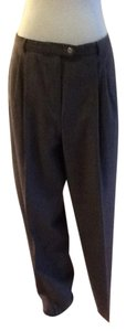 Giorgio Armani Made In Italy 100% Wool Trouser Pants Gray