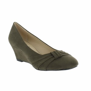 Red Circle Footwear Olive Wedges