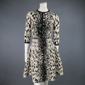 Lanvin Leopard Cheetah A-line Dress