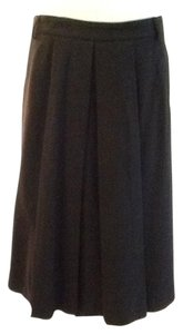 Theory 97% Wool 3% Lycra Made In Usa Dryclean Skirt Black