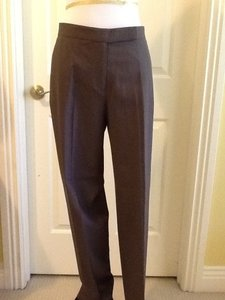 DKNY Made In Korea 96% Wool 4% Spandez Dry Clean Straight Pants Olive green