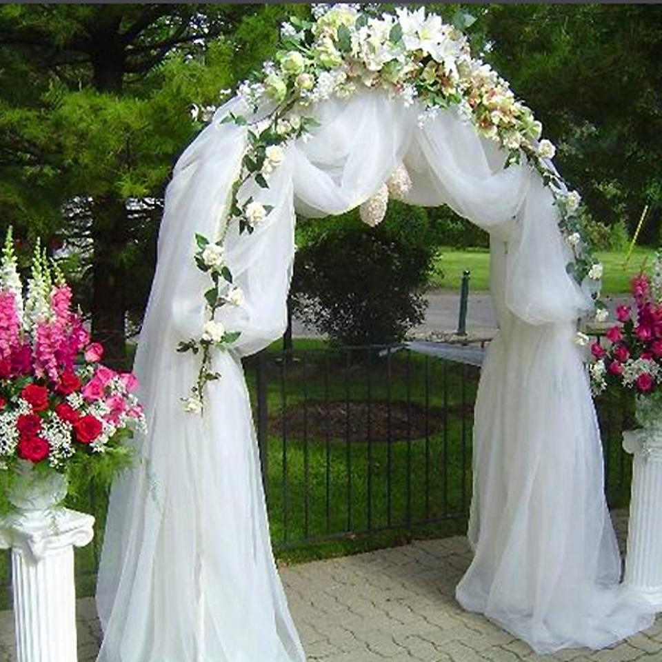 Elegant arch ceremony decoration tradesy for Arch decoration pictures