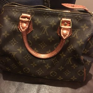 Louis Vuitton Satchel in copper