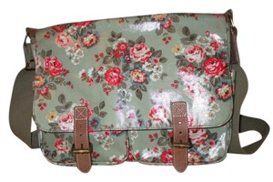 Cath Kidston Travel Laptop green floral print Messenger Bag