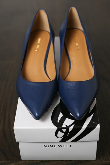Nine West Navy Pumps