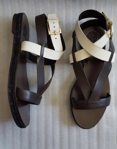 Tory Burch Sandal Marbella Brown White Sandals