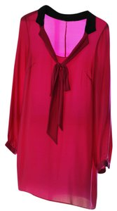 Hutch Bow Long Blouse Long Silk Tunic