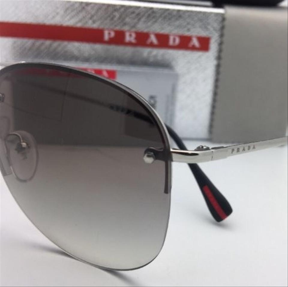 d118a520fc Prada Aviator Sunglasses Sps 51l Grey