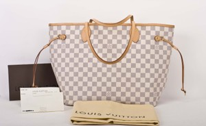 Louis Vuitton Neverfull Mm Tote in damier azur