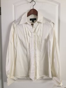 Robert Rodriguez Puffy Sleeves Pirate Sleeves Button Down Shirt White