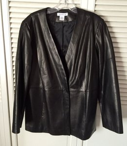 Liz Claiborne Classic Black Leather Jacket