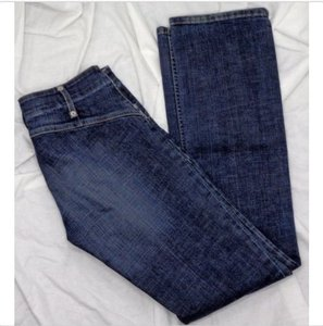 Juicy Couture Stretchy Comfortable Designer Straight Leg Jeans-Medium Wash