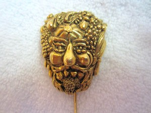Isabel Canovas Vintage Isabel Canovas Nature Spirit Face Stick Pin Signed Rare Superb