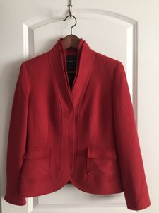 Albert Nipon Wool Cashmere Coral red Blazer