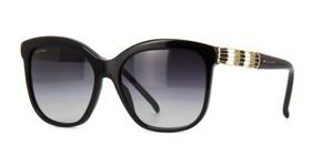BVLGARI NEW BVLGARI 8155 Black Oversized Embellished Rhinestone Sunglasses