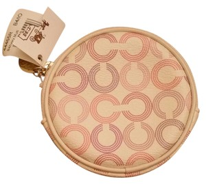 Coach Coach logo round change purse