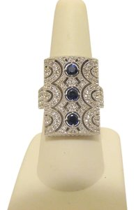 Victoria Wieck Victoria Wieck 2.48ctw Sapphire and White Topaz Ring