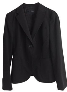 Banana Republic Pinstriped Stretch Wool Black Blazer