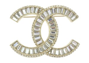 Chanel Golden Crystal CC Brooch