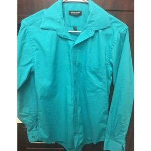Pierre Cardin Business Men Polo Button Button Down Shirt Teal