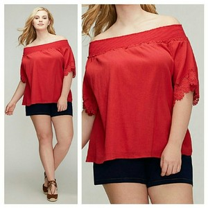 Lane Bryant Plus-size 3x Top Red