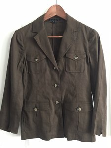 Theory Safari Military Khaki Olive Blazer