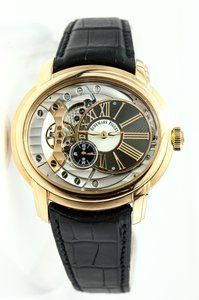 Audemars Piguet Millenary Solid 18k Gold and Black Crocodile Leather watch