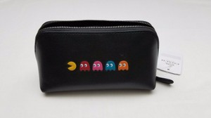 Coach Coach Limited Edition Pac Man Leather Cosmetic Case Bag 56712 NWt