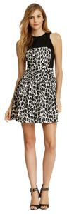 French Connection Leopard Criscross Back Fit And Flare Dress