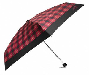 Coach Coach PLAID UMBRELLA WITH SLEEVE 56051 TRUE RED/MULTI NWT