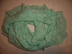 Charlotte Russe Loose Knit Ruffled Slouchy Infinity Scarf