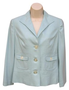 Carlisle Wool Silk Textured Mint Green Blazer
