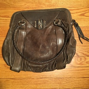 Cole Haan Leather Shell Top Braided Hobo Bag