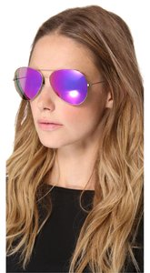 Victoria Beckham NEW Victoria Beckham VBS2 Feather Fuschia Aviator Sunglasses