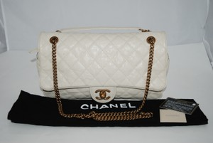 Chanel Goldtone Jumbo Shoulder Bag