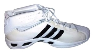 adidas Size 18 Leather Men's Basketball Ankle Height White/Black Athletic