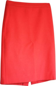 J.Crew Wool Pencil Skirt Persimmon