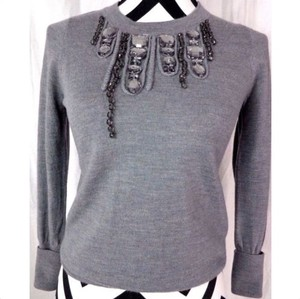 J.Crew Rhinestone Wool Embellished Sweater