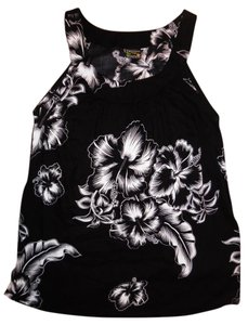 Aloha Fashion Hawaii Loose Flowy Cami Tank Top Black, White
