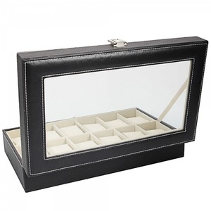 MAKES A GREAT GIFT! Black Watch Display Storage Box. Holds 12.