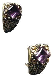 John Hardy Authentic John Hardy Huggie Amethyst Earrings